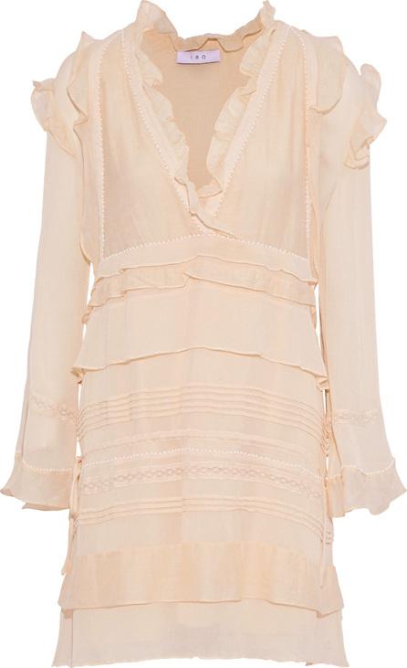 IRO Eded ruffled embellished gauze mini dress