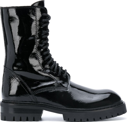 Ann Demeulemeester Patent leather lace-up boots