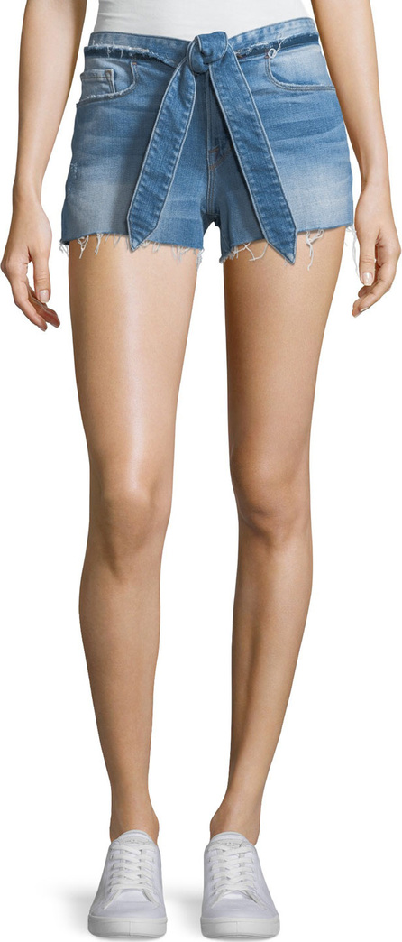 FRAME DENIM Le Cutoff Released Tie-Waist Denim Shorts
