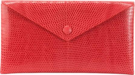 Alaïa Louise Lizard Envelope Clutch Bag