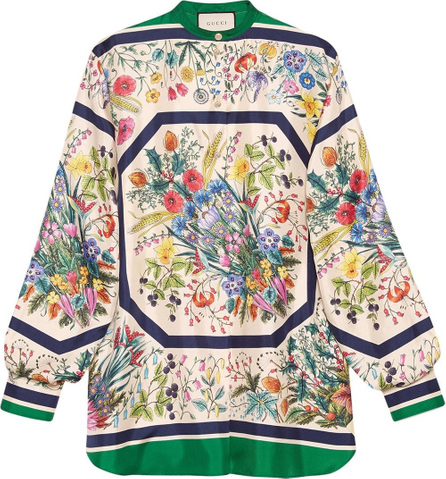 Gucci Silk shirt with floral print