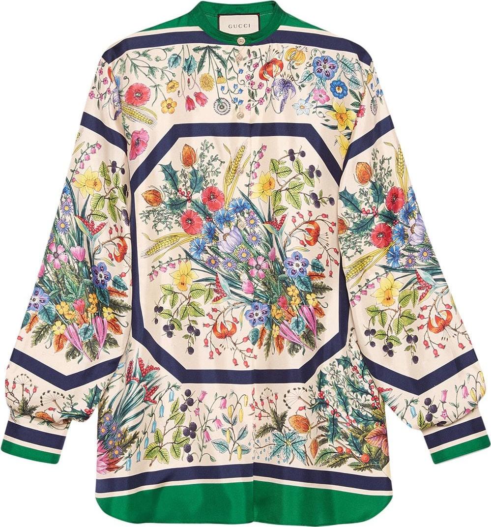 50bd41dae Gucci Floral Print Shirt Womens