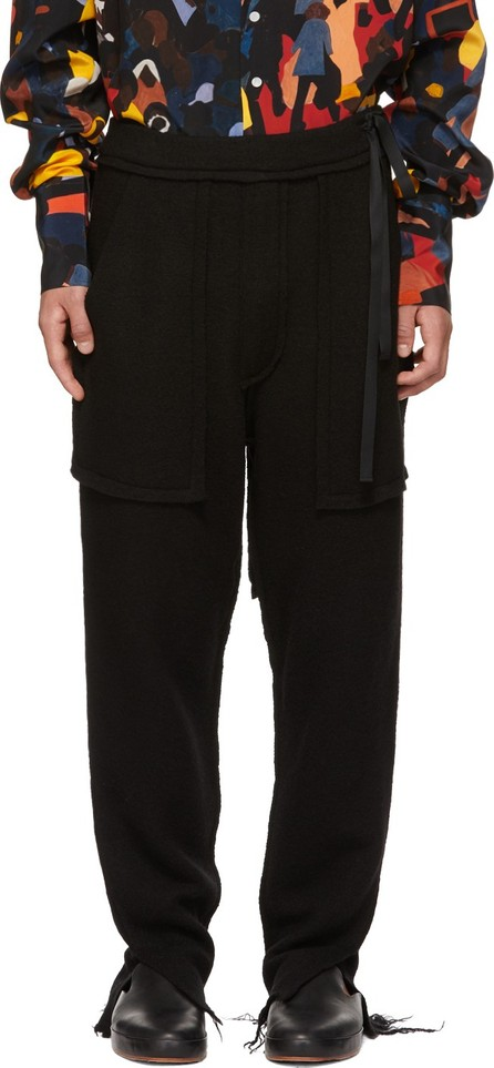 BED J.W. FORD Black Wool Easy Lounge Pants