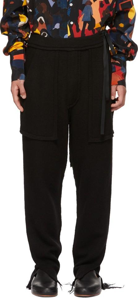 BED J.W. FORD Black Wool Easy Lounge Pants