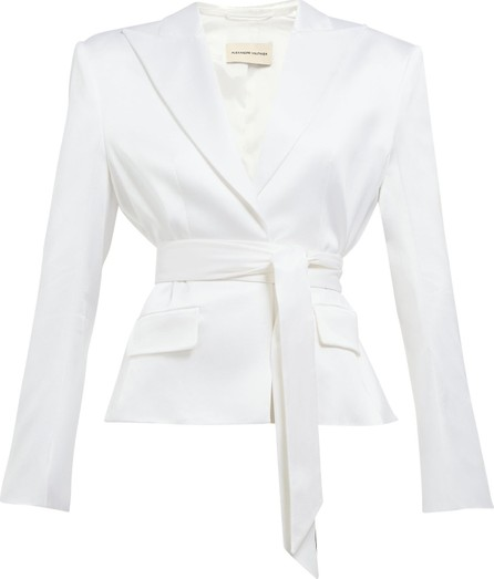 Alexandre Vauthier Single-breasted wrap-belt satin blazer