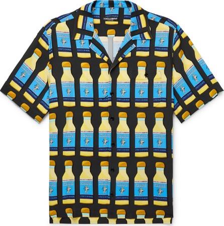 Dolce & Gabbana Camp-Collar Printed Woven Shirt