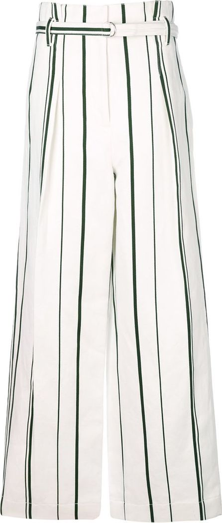 3.1 Phillip Lim belted striped trousers