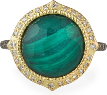 Armenta Old World Malachite/Topaz Doublet Ring w/ 18k Gold & Diamonds  Size 6.5