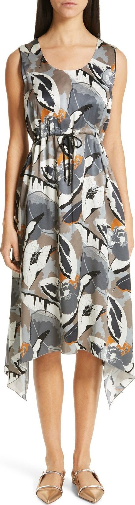 Fabiana Filippi Print Satin Midi Dress