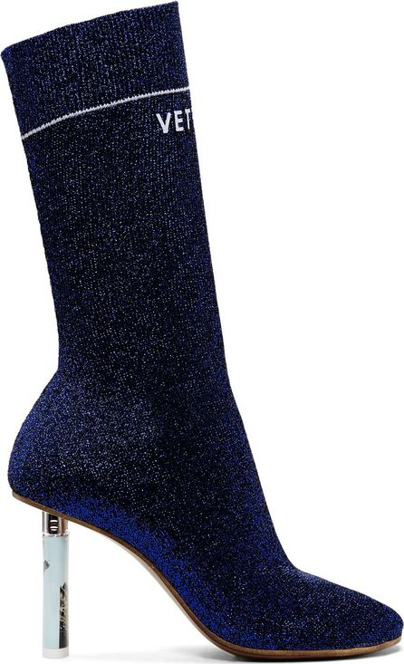 Vetements Blue Lurex Lighter Sock Boots