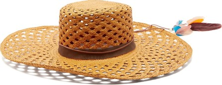 House of Lafayette Reed 1 feather-trimmed straw panama hat