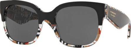 Burberry London England Two-Tone Plastic Square Sunglasses