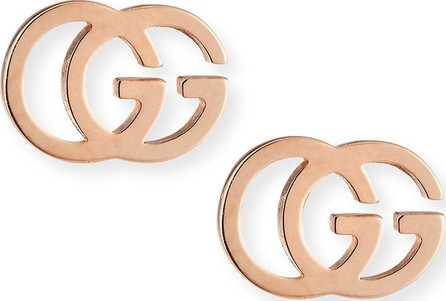 17624fd0569 Gucci 18K Yellow Gold Running G Stud Earrings in White - mkt