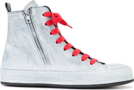 Ann Demeulemeester side zip hi-top sneakers