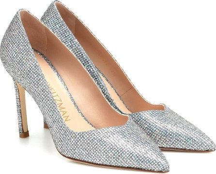 Stuart Weitzman Anny embellished leather pumps