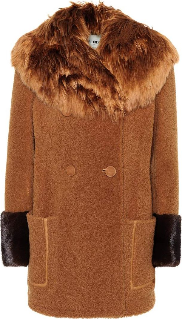 Fendi - Fur-trimmed shearling coat