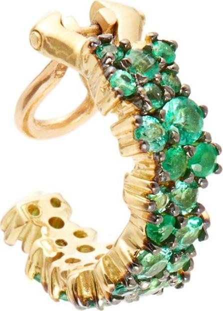 Ana Khouri Mirian emerald & 18kt gold ear cuff
