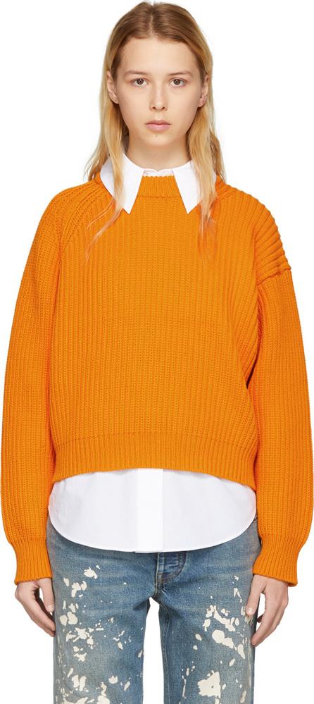Acne Studios Orange Penina Chunky Sweater