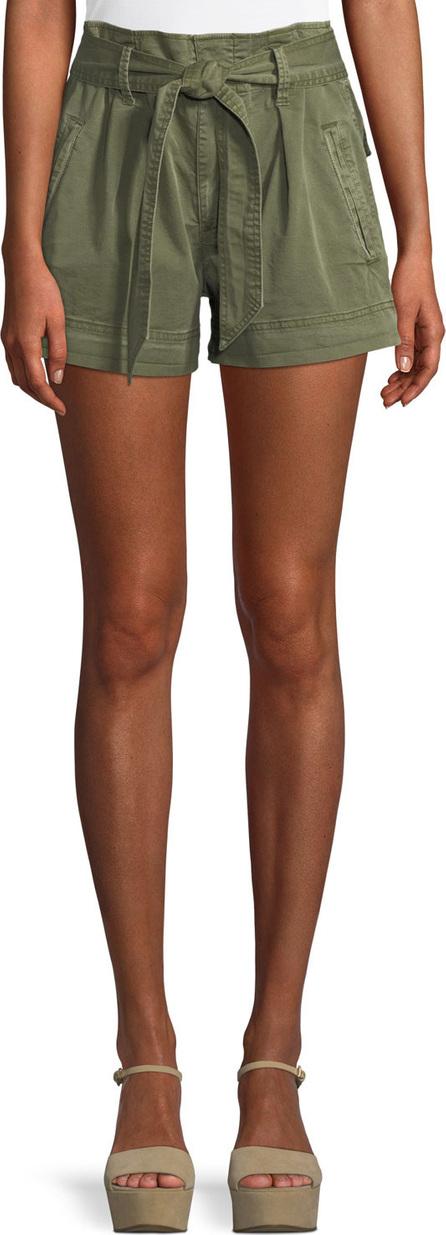 Ella Moss High-Waist Belted Paperbag Shorts
