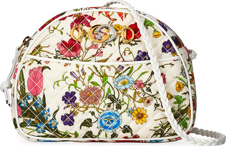 Gucci Trapuntata Small Quilted Floral Shoulder Bag