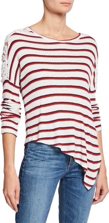 Generation Love Bleecker Striped Top with Lace Shoulder Detail