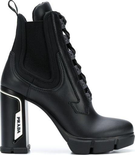 Prada Logo patch chunky boots