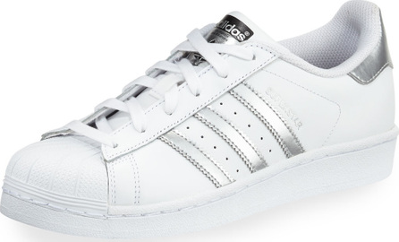 Adidas Superstar Original Fashion Sneakers, White/Silver
