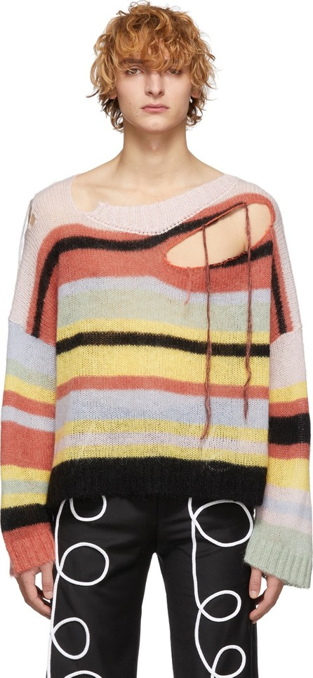 Charles Jeffrey Loverboy Multicolor Stripe Slash Sweater