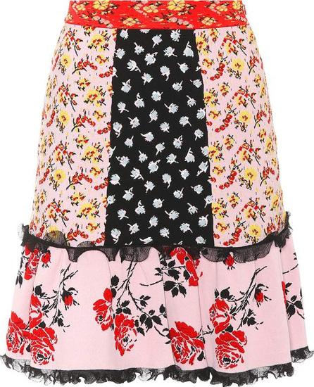Alexander McQueen Floral jacquard-knit miniskirt