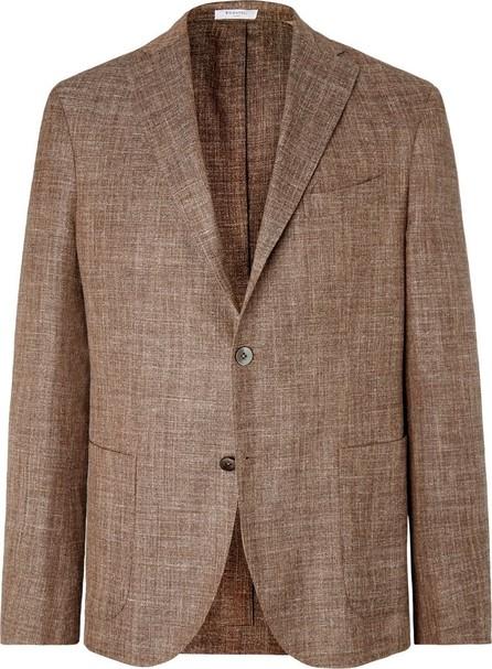 Boglioli Brown Unstructured Virgin Wool, Silk and Linen-Blend Blazer