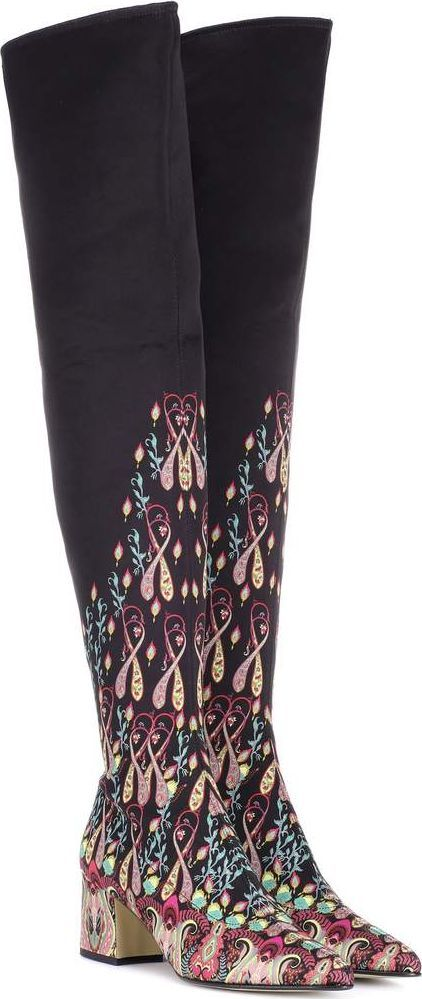 Etro Printed over-the-knee boots