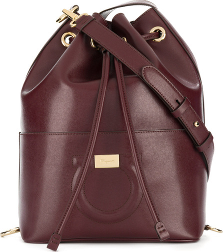 Salvatore Ferragamo Gancio embossed bucket bag