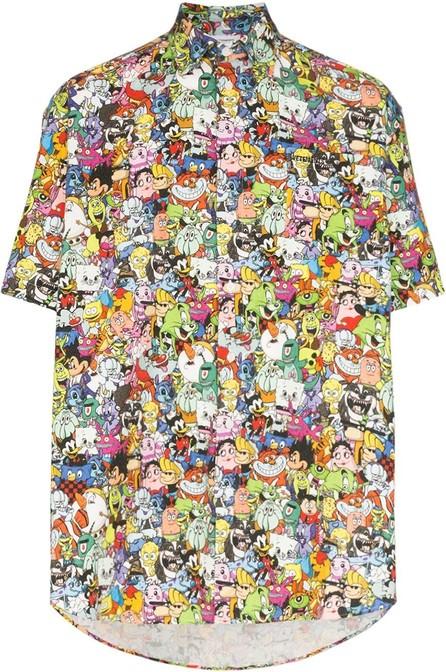 Vetements Ovresized cartoon-print cotton shirt