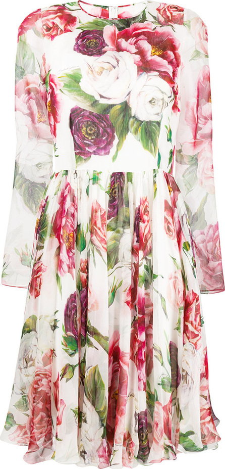 Dolce & Gabbana Rose print pleated dress