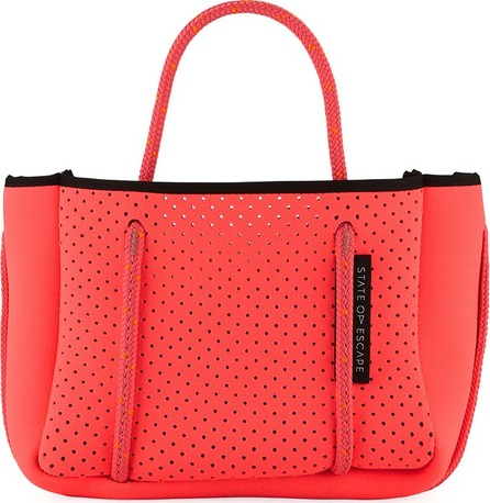 State of Escape Perforated Neoprene Small Crossbody Bag, Bright Pink