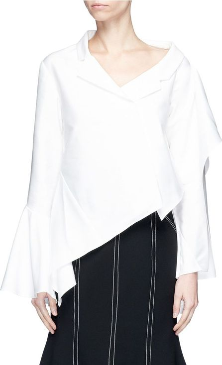 ADEAM Asymmetric deconstructed cascade suiting top