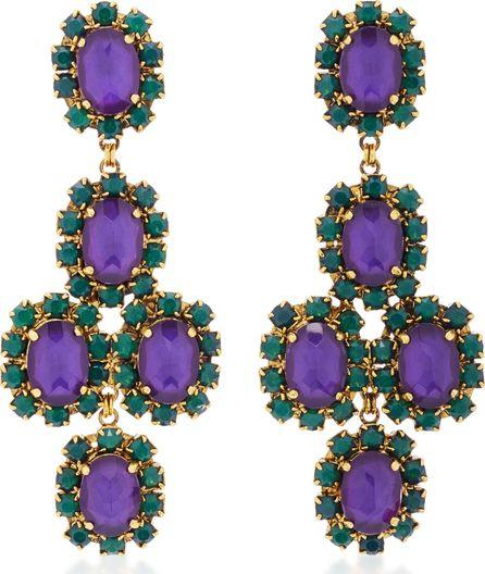 Erickson Beamon Funhouse 24K Gold-Plated Crystal Earrings