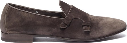 Henderson Baracco Double monk strap suede loafers