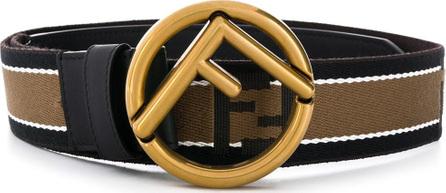 Fendi Striped logo buckle belt