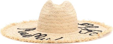Miu Miu Embroidered straw hat
