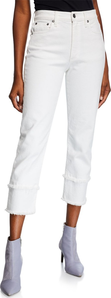 Alice + Olivia Amazing High-Rise Jeans with Double Hem