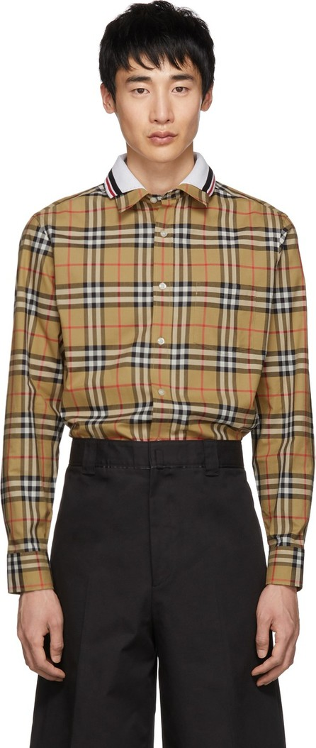 Burberry London England Beige Check Edward Shirt