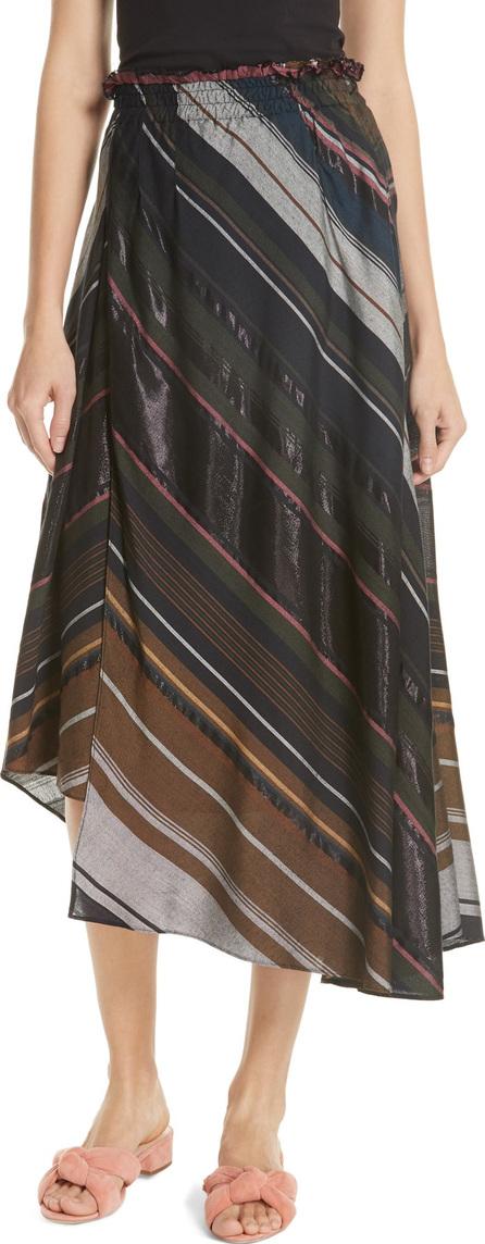 APIECE APART Turkanna Stripe Midi Skirt