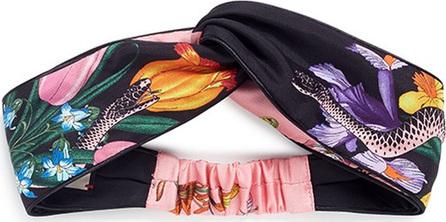 Gucci 'Flora Snake' print silk twill headband