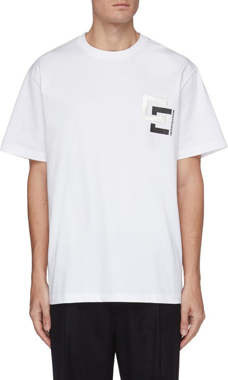 Wooyoungmi Embroidered logo patch cotton T-shirt