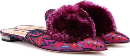 Aquazzura Powder Puff jacquard slippers