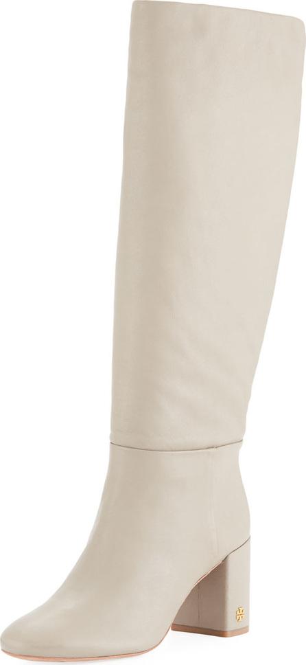 Tory Burch Brooke Slouchy Leather Block-Heel Knee Boots
