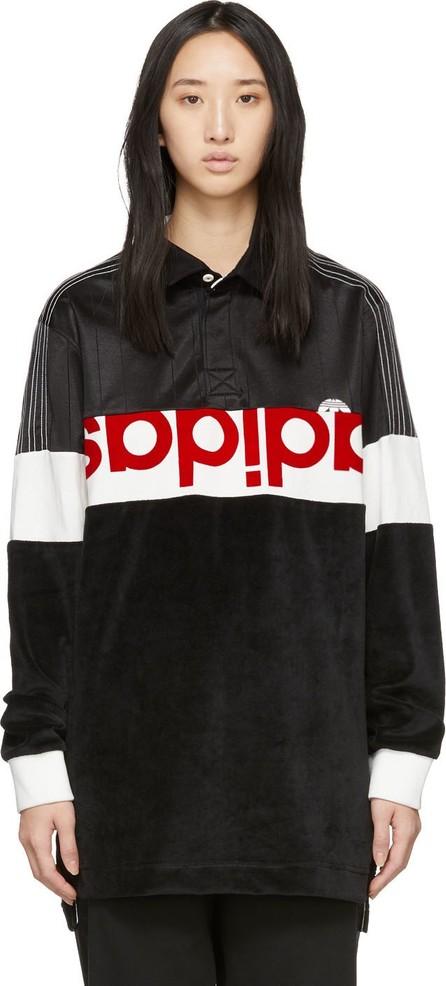 Adidas Originals by Alexander Wang Black & White Disjoin Jersey Long Sleeve Polo