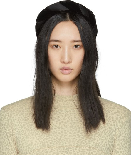 Sophie Buhai Black Braided Velvet Headband