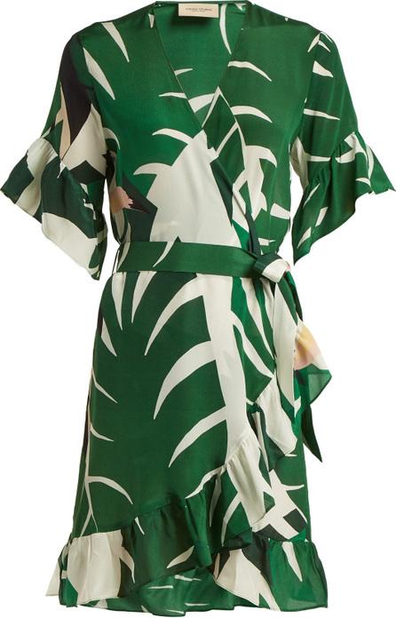 Adriana Degreas Printed silk crepe wrap dress